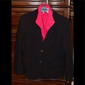 | Black Calvin Klein Suit Jacket & Pink Blouse |